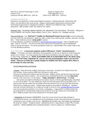 FALL PSY 201  2011 syllabus revised
