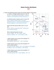 Redox Practice Worksheet_KEY