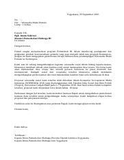 Surat Pengajuan Permohonan Bantuan Untuk Wirausaha Muda