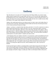 Anthony character bio
