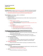 Marketing Study Guide ch 13-20