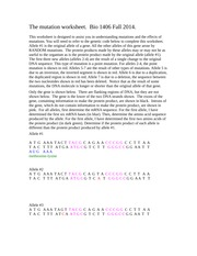 mutation worksheet fall 2014