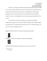 Unit 6 Research Paper 1 Network Attached Storage