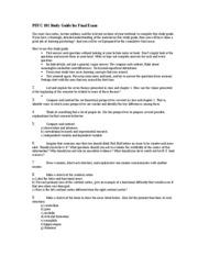 PSYC 101 Study Guide for Final Exam
