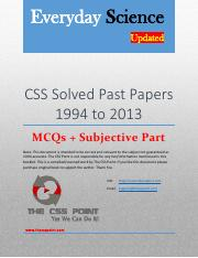 CSS Solved Every day science Past Papers - 1994 to 2013.pdf
