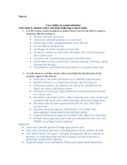 Case studies on wound infections notes