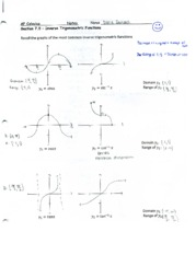 inverse trig function notes