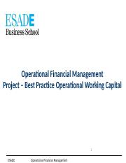 Project Best Practice Operational Working Capital