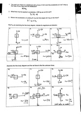 PHYS 4340 2011 Free Body Diagram Assignment Solutions