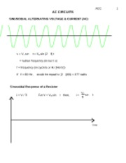 Intro to AC Circuits
