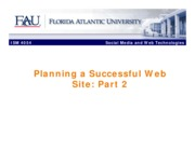 FAU ISM 4054 Planning a Successful Website Part B