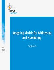 Designing Models for Addressing and Numbering