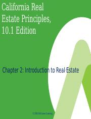 California Real Estate Principles, 10.1e - PowerPoint - Ch  02.ppt