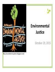 Lecture 14 Environmental Justice Slides