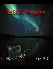 Lecture 2 - The Earth's Atmosphere (1.15.14)