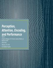 PSYCH 640 Team-A Perception, Attention, Encoding, and Performance