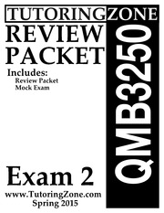 Exam 2 Review qmb
