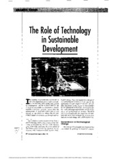 18- THE ROLE OF TECHNOLOGY IN SUSTAINABLE DEVELOPMENT