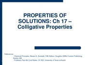 2010-02-03 - Colligative Properties