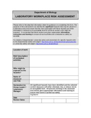 laboratory risk assessment form.doc