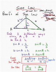 Sine Law Notes