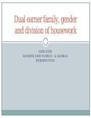 GESC2320 WK11 Dual earner family, gender and DOH