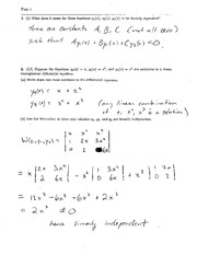 Exam 2 Solution Spring 2004 on Ordinary Differential Equations