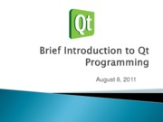 Brief Introduction to QT (Report)