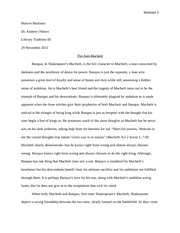 lady macbeth character analysis essay