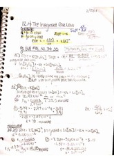 Integrated Rate Law notes