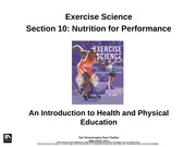 2.2 Nutrition for Performance