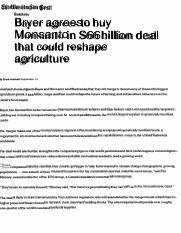 Bayer-Monsanto acquistion 9.16