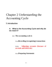 Chapter 2 - Understanding the Accounting Cycle