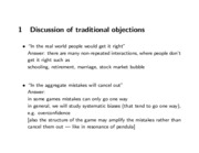 traditional objections