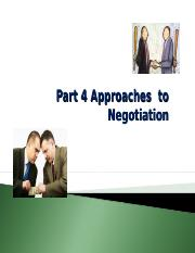 Part 4 Negotiation Approaches