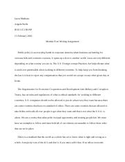 M4 Writting Assignment