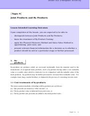 CMA_Topic 9_Joint Product and By-product Handout.doc