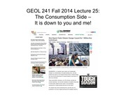 GEOL241 F2014 Lect25 -- Consumption