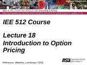 Lecture 18dm  Intro to Option Pricing