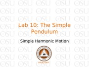 Lab 10 The Simple Pendulum