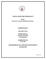 FINAL RESEARCH PROJECT M121