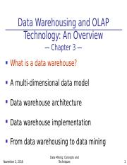 chapter03-Data Warehousing and OLAP Technology