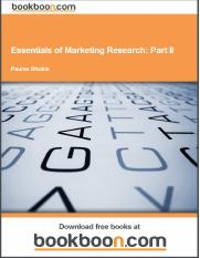 Essentials of marketing research part 2