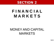 2015-FALL   I1   SECTION 2   Money and Capital Markets