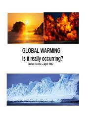 GLOBAL WARMING Is it really occurring.doc