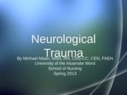 Neurological Trauma No Notes 040213