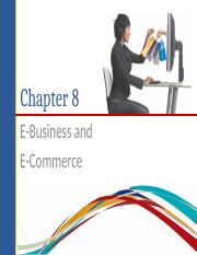 Chapter 8 E-Commerce