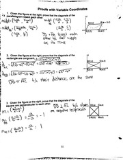 proofs with variable coordinates notes