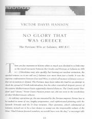Hanson - No Glory That Was Greece