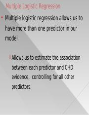 11. Multiple Logistic Regression